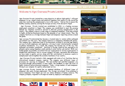 Overseas and Manpower nepal : www.agnioverseas.com.np